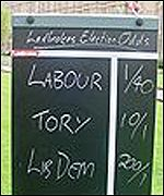 Ladbrokes¿s betting board
