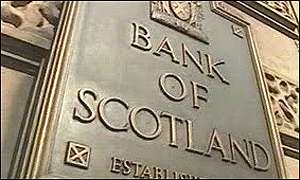Bank of Scotland sign