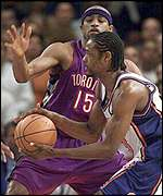 Vince Carter and Latrell Sprewell