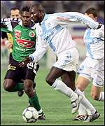 George Weah of Marseille and Liberia