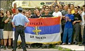 Bosnian Serb demonstration