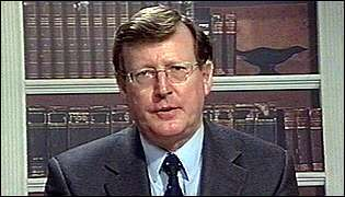Northern Ireland First Minister , David Trimble