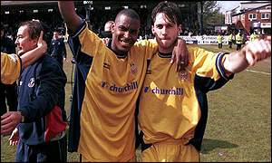Palace duo Morrison and Freedman celebrate