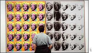 Warhol's work at the Tate Modern in London