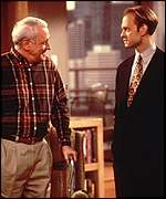 Niles Crane and his father Marty