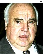 The former German Chancellor Helmut Kohl