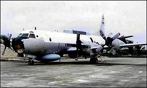 US EP-3 surveillance plane, grounded on Hainan Island since 1 April