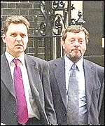 Alan Milburn and David Blunkett
