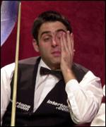 O'Sullivan in the Crucible chair