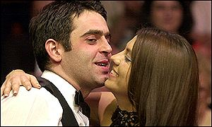 Ronnie OSullivan celebrates with girlfriend Bianca