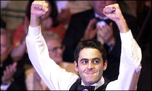 Ronnie O'Sullivan salutes the crowd