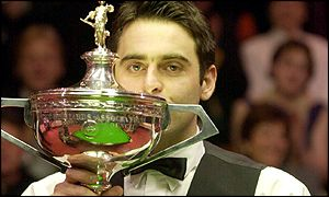 Ronnie O Sullivan lifts the trophy