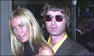 Noel Gallagher and Meg Mathews