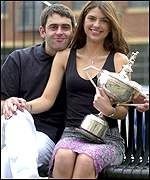 Ronnie with girlfriend Bianca Westwood