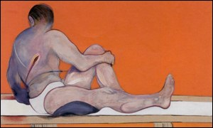 The left panel of Francis Bacon's Studies of the Human Body