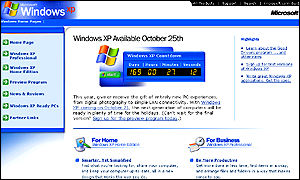 Windows XP is due for widespread distribution by 25 October