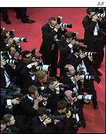 Photographers at screening of Moulin Rouge