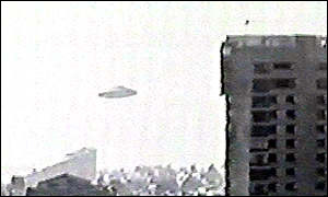 An alleged UFO above the Mexican city of Tecamachalco in 1997