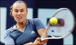 Martina Hingis in actiuon in Berlin