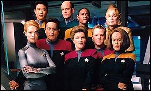 The cast of Star Trek Voyager