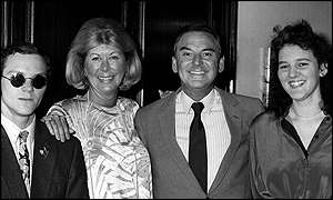 Bob Monkhouse and family