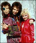 Mark Wing-Davey as Zaphod Beeblebrox and Sandra Dickinson as Trillian