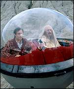 Simon Jones as Arthur Dent and Richard Vernon as Slartibartfast