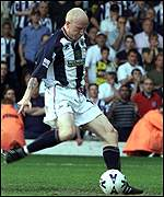 Lee Hughes scores from the spot