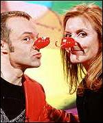Norton with the Duchess of York on Comic Relief
