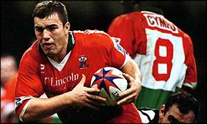 Iestyn Harris in action for Wales during last year's world cup