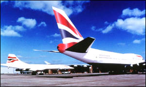 BA aeroplanes on the tarmac
