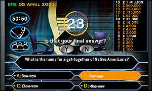Who Wants to be a Millionaire? game on itv.com