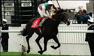 Commander-in-Chief, trained by Henry Cecil, rode to victory in the Derby in 1993