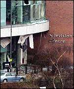 BBC TV Centre bombed, probably the work of the Real IRA