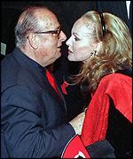 Director Mauro Bolognini, who has died, with Ursula Andress