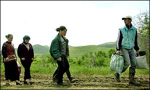 Refugees at Kosovo border