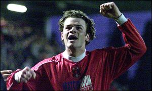 Orient's Matthew Lockwood celebrates scoring against Hull
