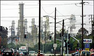 Exxon oil refinery, Torrance, California