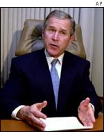 President Bush broadcasts AP