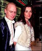John Diamond and Nigella Lawson in elegant evening wear