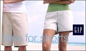 Gap shorts advert
