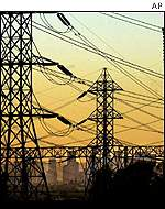 California electricity pylons