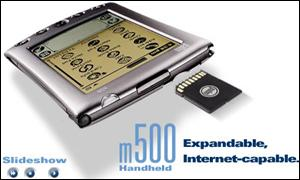 The m500 - one of the next generation of Palm handheld computers