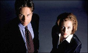 Duchovny (left) and Anderson, who will stay on the show