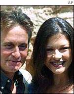 Catherine Zeta Jones and Michael Douglas on holiday