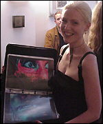 Erika �kvist with her film portfolio