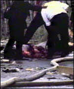 Rescue workers on Bloody Friday