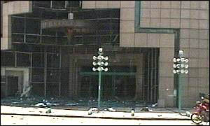 The Hasharon shopping centre after the blast