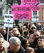 An anti right-wing Freedom Party demonstration in Austria