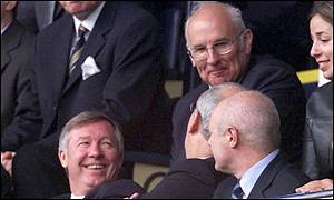 Sir Alex Ferguson in the crowd at White Hart Lane